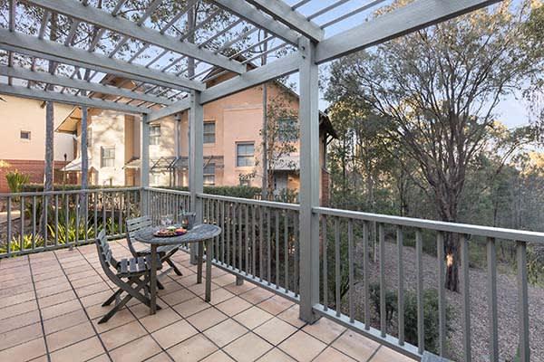 Oaks Cypress Lakes Resort 1 Bedroom Villa Balcony