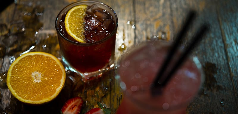 Bar Cocktails at Bistro and Bar Restaurant Oaks Cypress Lakes Resort