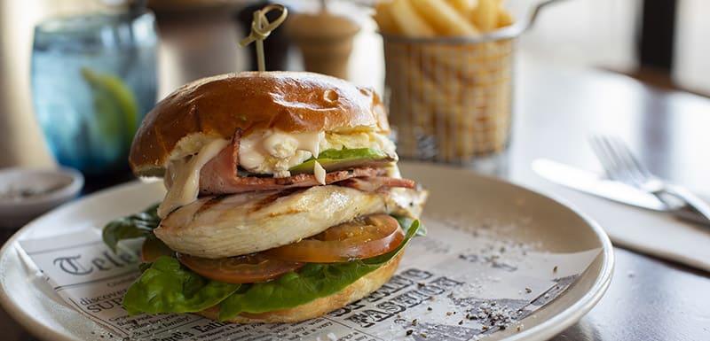 Bistro Burger at Bistro and Bar Restaurant Oaks Cypress Lakes Resort