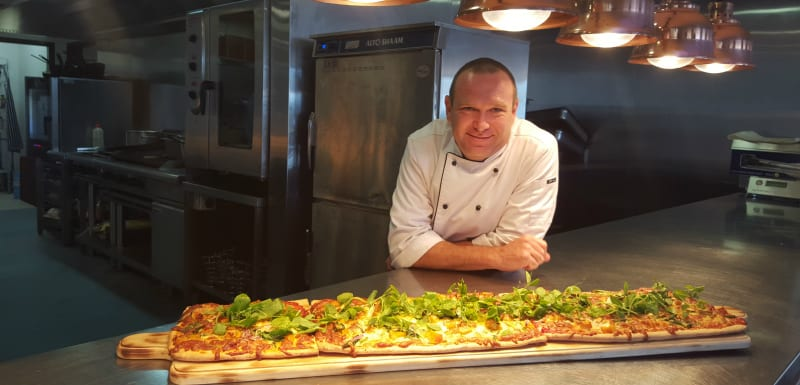Bodega Restaurants famous 1 metre pizza