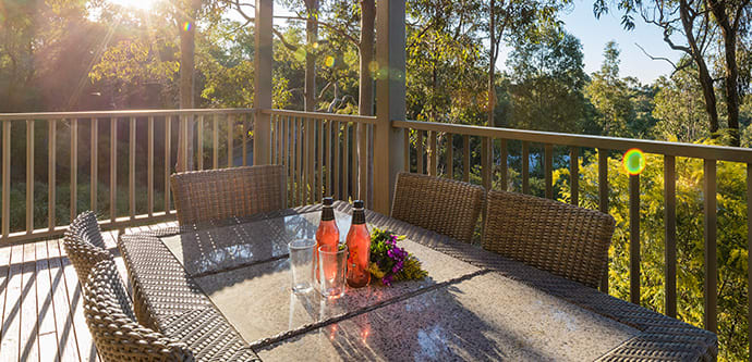 Best Hunter Valley resort with large rooms and quiet balcony for entertaining