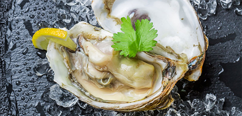 Fresh Oysters offered by Pipette Restaurant at Oaks Cypress in Hunter Valley