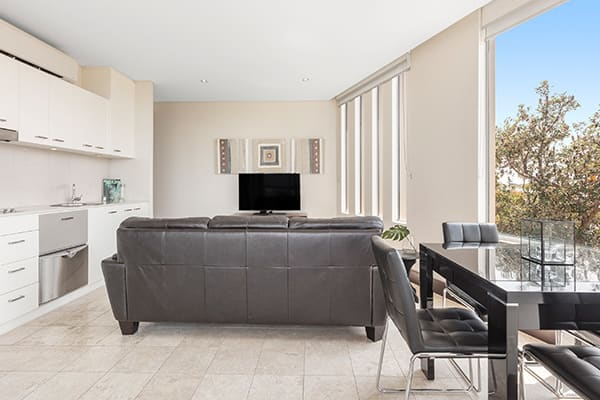 Oaks Santai Resort Casuarina 2 Bedroom Apartment Living Room