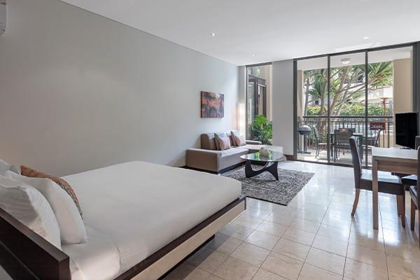 Oaks Santai Resort Casuarina Studio Pool Bedroom