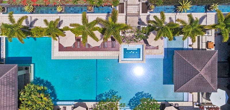 Oaks Santai Resort Casuarina Aeriel Shot