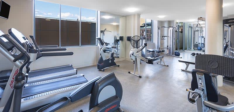 gym at oaks on castlereagh sydney hotel