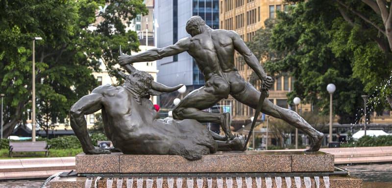 statue in Hyde Park Sydney Australia