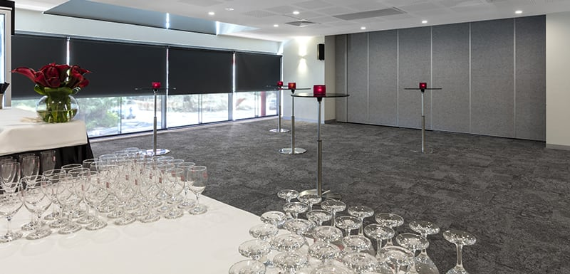 tables prepared in event room for hire in Darwin, Northern Territory, Australia