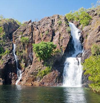 wangi falls in Litchfield National park Northern Territory Australia