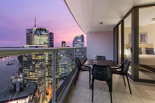 Oaks Brisbane Aurora Suites 2 Bedroom Executive River View
