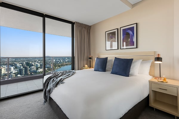 Oaks Brisbane Aurora Suites 2 Bedroom River View