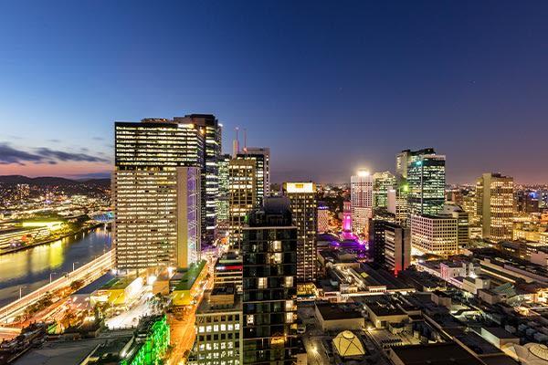 Oaks Brisbane Casino Tower Suites 1 Bedroom Apartment View
