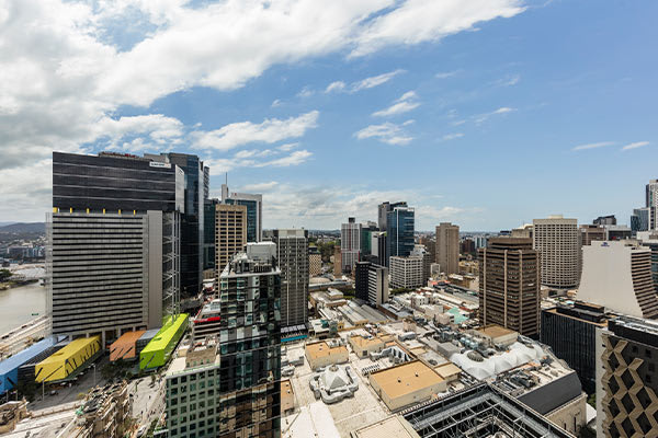 Oaks Brisbane Casino Tower Suites 1 Bedroom Apartment daylight View