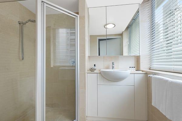en suite bathroom at 3 bedroom apartment on Brisbane River