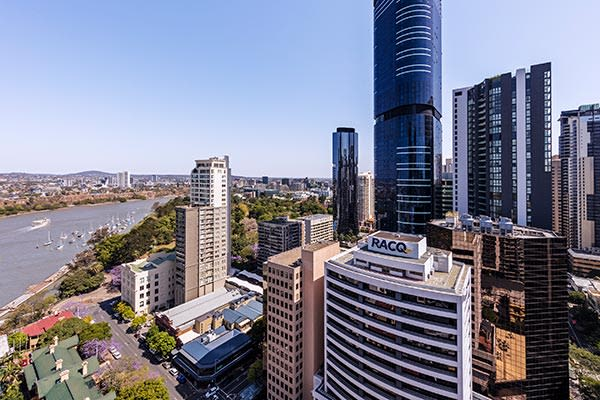 Brisbane River and City View at Oaks Brisbane Felix Suites 1 Bed Apartment