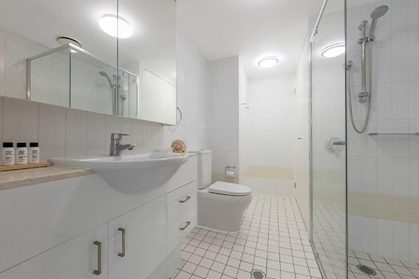 Shower Room at Oaks Brisbane Felix Suites 1 Bed Apartment