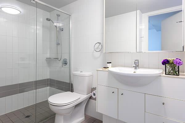 Shower Room at Oaks Brisbane Felix Suites 1 Bed Executive