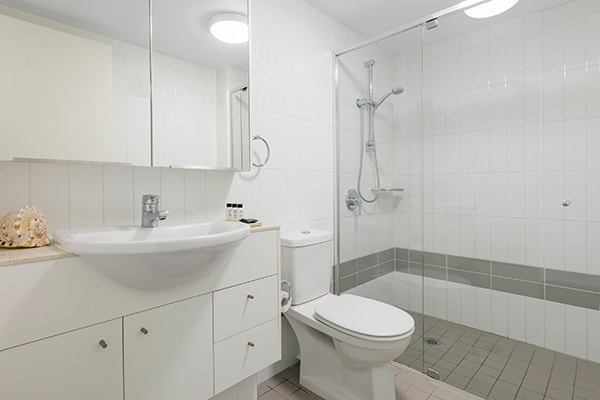 Oaks Brisbane Felix Suites 2 Bed Apartment Bathroom one with shower