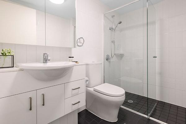 Oaks Brisbane on Felix Suites 2 Bedroom Refurbished Bathroom Two with shower