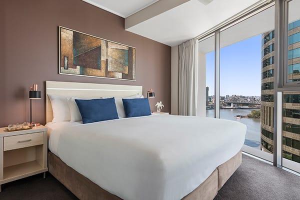 2 bedroom apartment with great views of Brisbane River and Story Bridge in Brisbane, Queensland, Australia
