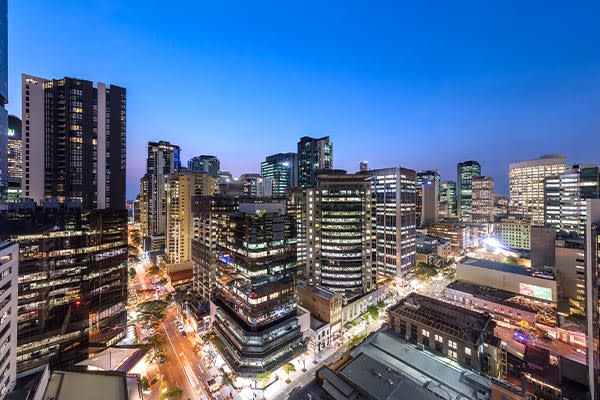 stunning Brisbane city view at Oaks Brisbane on Felix Suites 2 Bedroom Story Bridge View Brisbane River View
