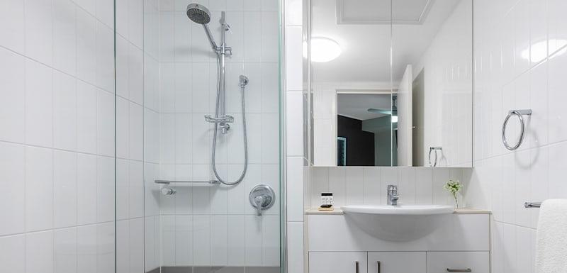 Oaks Brisbane on Felix Suites 2 Bedroom Story Bridge View Bathroom with Shower