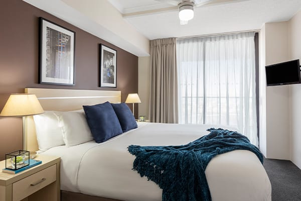 iStay River City two bedrooms river view bedroom one 2