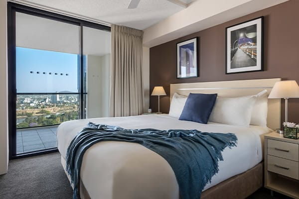 iStay River City two bedrooms river view bedroom two 1