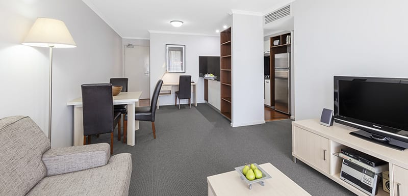 Oaks Lexicon 1 Bedroom Apartment Living area