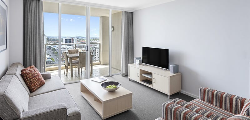 Oaks Lexicon 2 Bedroom Apartment Living Area