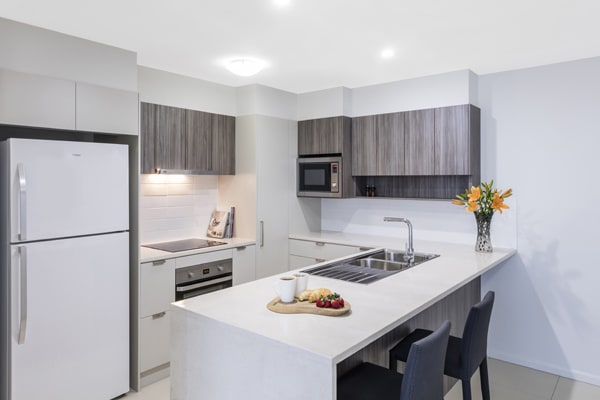 Oaks Woolloongabba 1 Bedroom Executive Kitchen