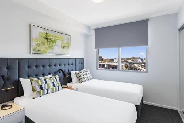 Oaks Woolloongabba 2 Bedroom Executive Bedroom