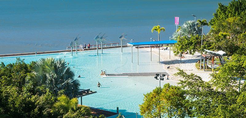 oaks cairns hotel view of Cairns Esplanade Lagoon 800x385