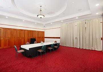 Conference set up for large Vanderbilt room at Oaks Grand Gladstone hotel in Queensland, Australia