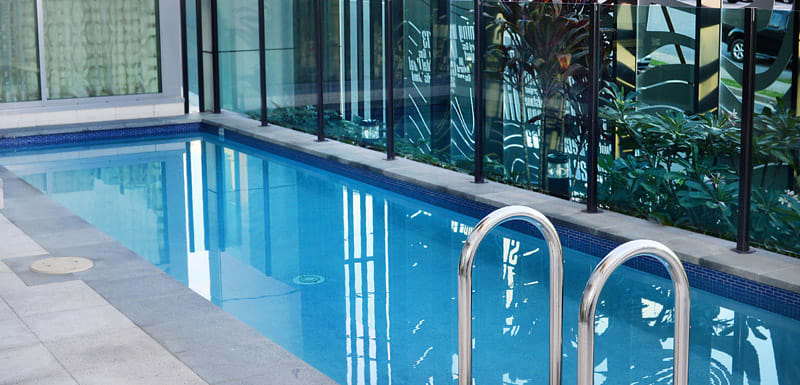 swimming pool for guests staying at Oaks Grand Gladstone hotel