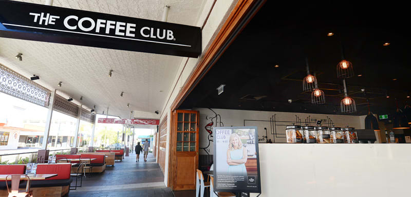 people enjoying coffee at The Coffee Club restaurant in Gladstone