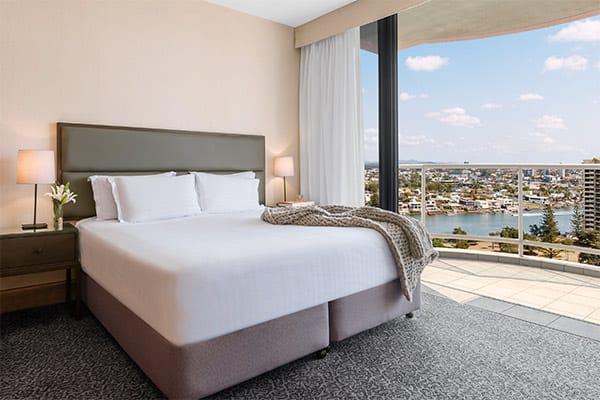 Oaks Gold Coast 1 Bedroom Ocean View Bedroom