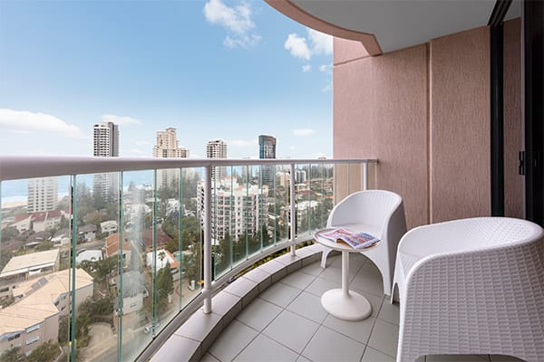 Oaks Gold Coast Hotel Room Ocean View Balcony