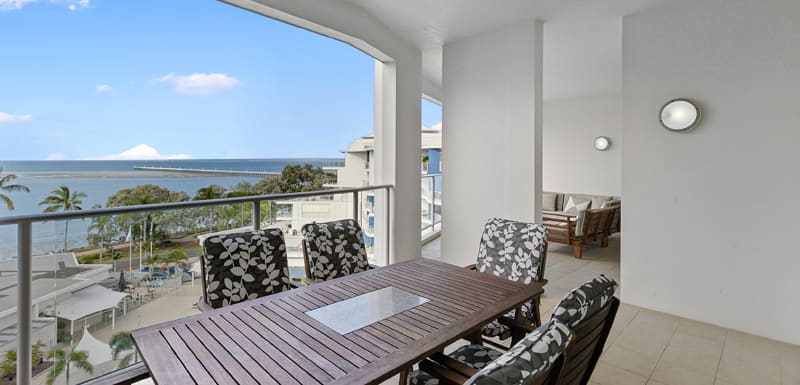 Oaks Hervey Bay Resort and Spa 3 Bedroom Penthouse Balcony