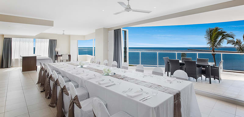 Meeting room overlooking ocean Hervey Bay