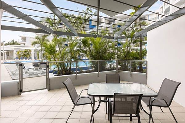 Oaks Resort and Spa Hervey Bay 1 Bedroom Pool View Balcony