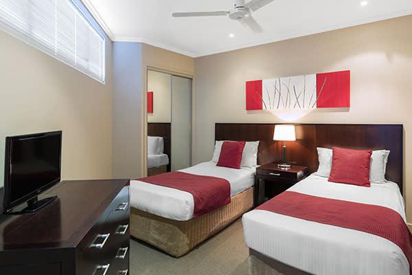 Oaks Resort Spa Hervey Bay 2 Bedroom Premier Ocean View Bathroom