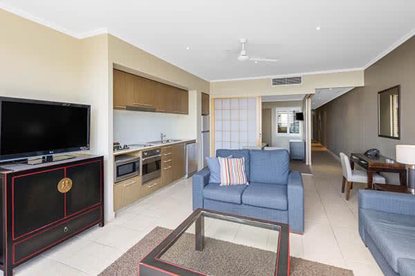 Oaks Resort Spa Hervey Bay 2 Bedroom Premier Ocean View Living Room