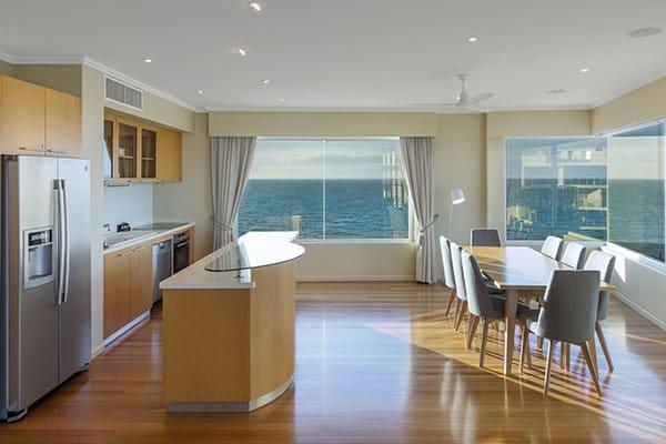 Oaks Resort Spa Hervey Bay 3 Bedroom Premier Ocean View Dining