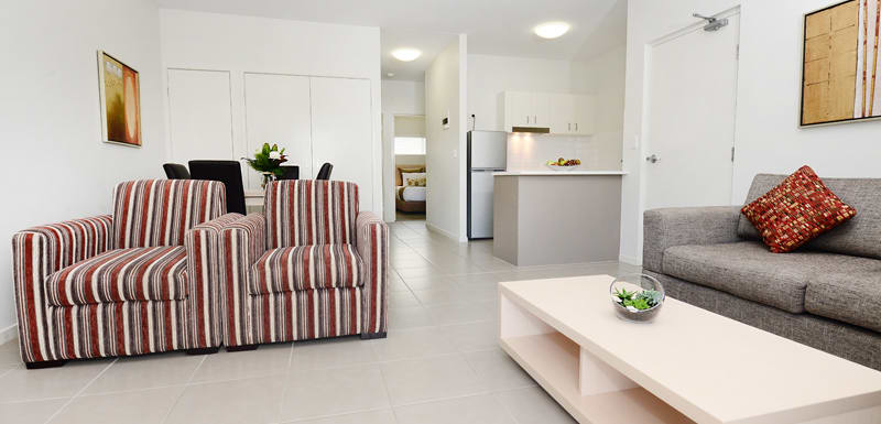 air conditioned 2 bedroom apartment with Wi-Fi near Middlemount airport at Oaks Middlemount hotel