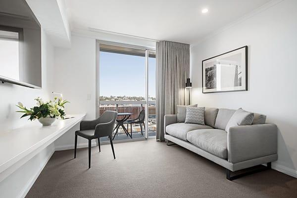 Oaks Toowoomba Hotel Two Bedroom Dual Living Room