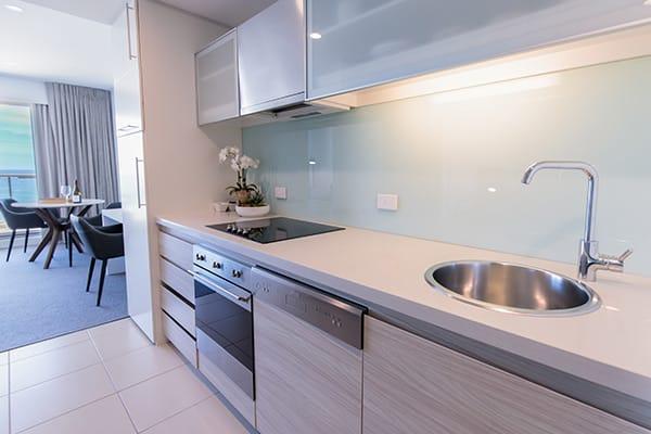 Oaks Glenelg Plaza Pier Suites 1 Bedroom Premier Ocean View Kitchen