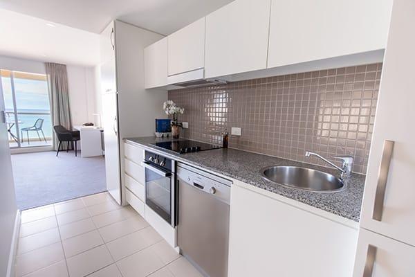 Oaks Glenelg Plaza Pier Suites 2 Bedroom Premier Ocean View Kitchen
