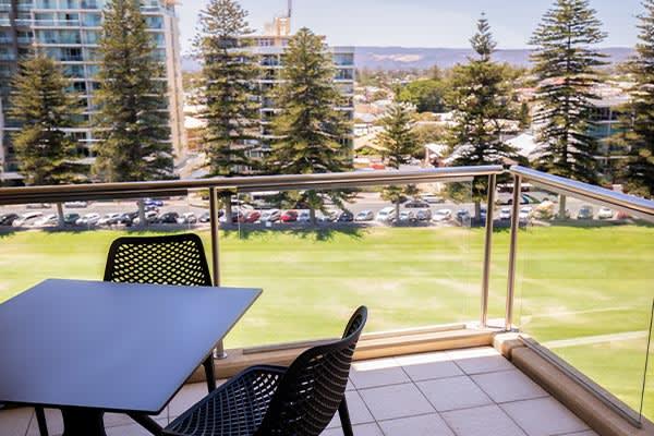 Oaks Glenelg Plaza Pier Suites 2 Bedroom Premier Park view Balcony