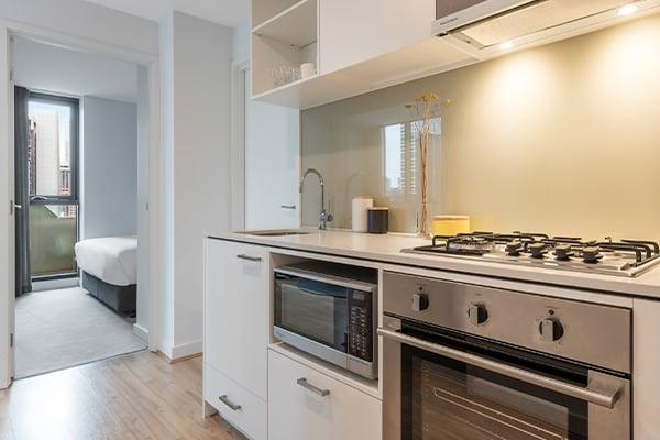Oaks Melbourne Southbank Suites 2 Bedroom Kitchen